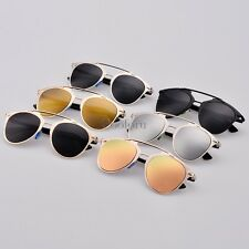 Women Dual Horizontal Beam Sunglasses Eyewear Retro Full Frame Women's CO99