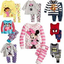 Cartoon Pajamas Kids Sleepwear Baby Boys Girls Nightwear Pyjamas Aged 2-7