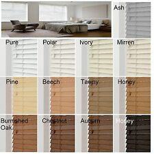 "SUNWOOD ESSENTIAL real wood VENETIAN BLINDS with cords - 50mm 2"" slat"