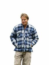Mens Champion Skye Sherpa Fleece Lined Warm Winter Checked Thermal Work Shirt