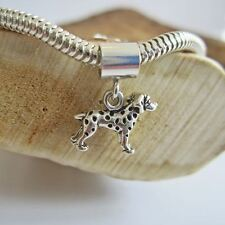 Dalmatian Mini Sterling Silver European-Style Charm and Bracelet- Free Shipping