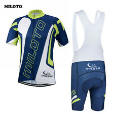 MILOTO Ropa Ciclismo Team Mens Bike Cycling Jersey Bib Shorts Short Sleeve Sport
