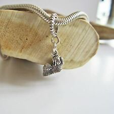 Yorkie Mini Sterling Silver European-Style Charm and Bracelet- Free Shipping
