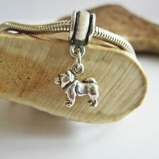 Chow Mini Sterling Silver European-Style Charm and Bracelet- Free Shipping