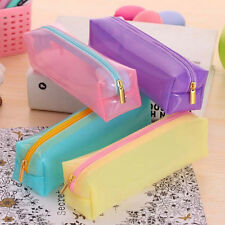 Fashion Pencil Pen Case Cosmetic Pouch Pocket Brush Holder Makeup Bag New