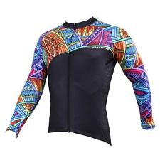 Men Long Sleeve Cycling Jersey Bicycle Bike Sportwear Rider Clothing C525s