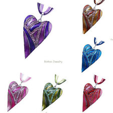 Wholesale Heart Jewelry Crystal Chain Statement Women Necklace Pendant Accs