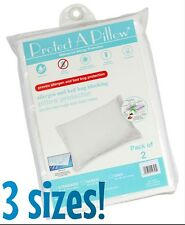 2 PACK Waterproof, Allergen, and Bed Bug Blocking PILLOW PROTECTORS with Zipper!