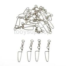 20pcs/set Coastlock Snap Ball Bearing Swivels Fishing Tackle Swivel