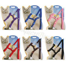 Brand Pet Cat Kitten Nylon Lead Leash Harness Collar Rope Safety Belt Adjustable
