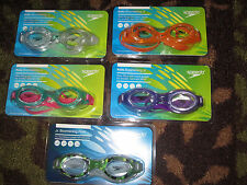 NEW Speedo Jr. Boomerang Swim Goggles Anti-Fog UV Latex Free Flex Frame