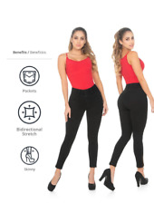Fajate Virtual Sensuality Push Up Jeans  Colombian Jeans Levanta cola White 2016