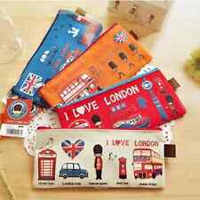 GOODY LONDON Style Canvas Pen Pencil Case Cosmetic Makeup Purse Coin Zipper Bag