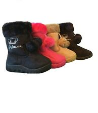 New Toddler - Girls Faux Fur Suede Princess Boots Shoes