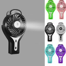 Mini Portable Cooling Misting Fan Personal Beauty Humidifier Rechargeable USB