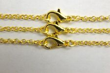 Gold Plated Rolo Chains Wholesale 11 and 22 Piece Lots 20 Inch Necklace Lot Bulk