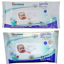 Himalaya Herbal Gentle Baby 24 & 72 Wipes Cleanse Baby's Normal Skin Travel Pack