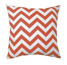 Coral Chevron, Zig Zag Coral and White Throw Pillow, Coral Accent Throw Pillow