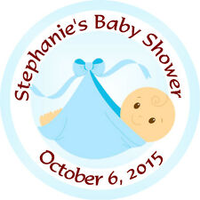 Personalised 37mm Baby Shower Stickers Labels Party Thank You Seals - L910