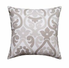 Floral Pillow, Taupe Pillow, Alex Ecru and White Floral Decorative Throw Pillow