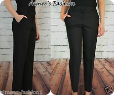 NEXT TAGGED £28 BLACK WORKWEAR SMART TAPERED TROUSERS NEW 654