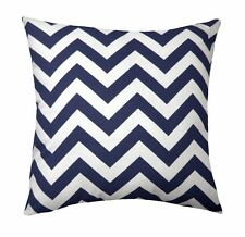 Navy Throw Pillow, Chevron Pillow, Zig Zag Stripe Navy Blue Accent Throw Pillow