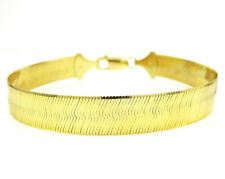"""9MM Mens Womens SOLID 10k Gold Herringbone Necklace Chain - 26""""-32"""" Inches"""