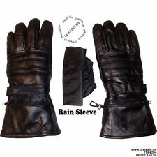 100% Black Lambskin Leather Motorcycle Gloves, Bike Gloves, Winter Gloves