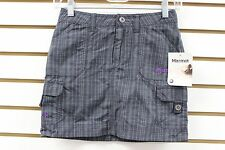 Marmot Girl's Plaid Oasis Skort Dark Steel 69790 Brand New With Tag