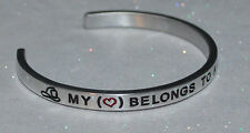 My Heart Belongs To A Firefighter  | Engraved not Hand Stamped