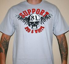 Hells Angels Rside 81 SKULL WITH WINGS support T-SHIRT
