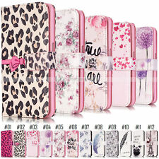 Cute Magnetic Flip Patterned PU Leather Stand Wallet Phone Case Cover For Apple