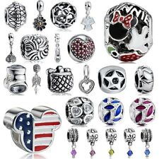 USA Cute Spacer Beads Fit European Charms 925 Sterling Silver Bracelets Chains
