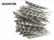 100PK hunting arrow fletching 4 inches natural turkey feather right & left wing