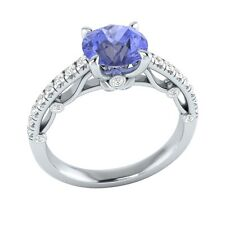 1.30 ct Natural Tanzanite & Certified Diamond Solid Gold wedding Engagement Ring
