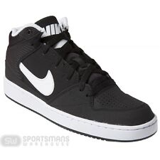Nike Men's Priority Mid Footwear Basketball  Black /White Leather Trainers