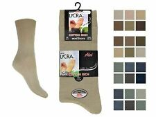Mens 6 Pair Pack Aler Cotton Lycra Everyday Socks With Purista - Style 1030