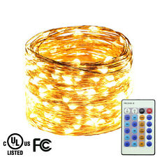 UL/CE 10m 100LED fairy remote control led string lights party wedding decor