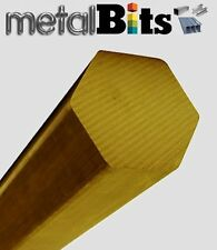 Brass Hexagon bar CZ121 (Various sizes available) Imperial