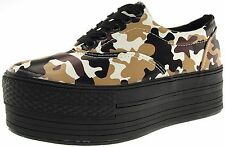 Maxstar Women's C50 5 Holes Platform TC Low Top Camo Sneakers