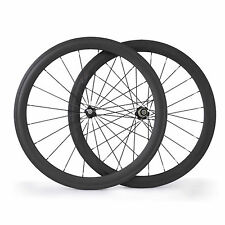 50mm Tubular bicycle Wheelsets 700C 23mm Width Road Racing Carbon Bicycle Wheels