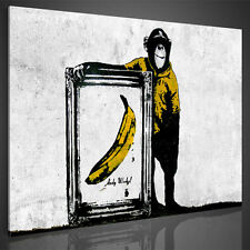 PICTURES CANVAS PICTURE 3022137_40 BANKSY ART PRINT GRAFFITI MURAL WHITE 1tlg
