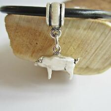 Pig Sterling Silver European-Style Charm and Bracelet- Free Shipping