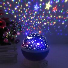 USB Rotation Starry Star Sky Romantic Moon Room Night Light Lamp Projector Gift
