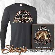 75th STURGIS MOTORCYCLE RALLY AND RACES OFFICIAL LOGO CHARCOAL GRAY LONG SLEEVE