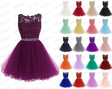 STOCK New Lace Short Hot Prom Party Bridesmaid Wedding Evening Dress Size 6-22