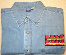 Mens Minneapolis Moline Embroidered Denim Shirt with Pocket