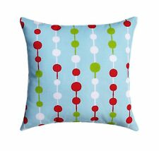 Holiday Throw Pillow, Beads Decorative Throw Pillow in Blue, Red, Green, White
