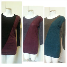 Super Cute Trendy Bat Wing Loose Fit Knit Sweater Dress with Necklace 4color NWT