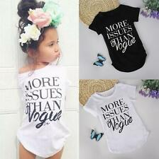 Girls Short Sleeve Tops Blouse Kids Baby Casual Hot Clothes Toddler T-shirt